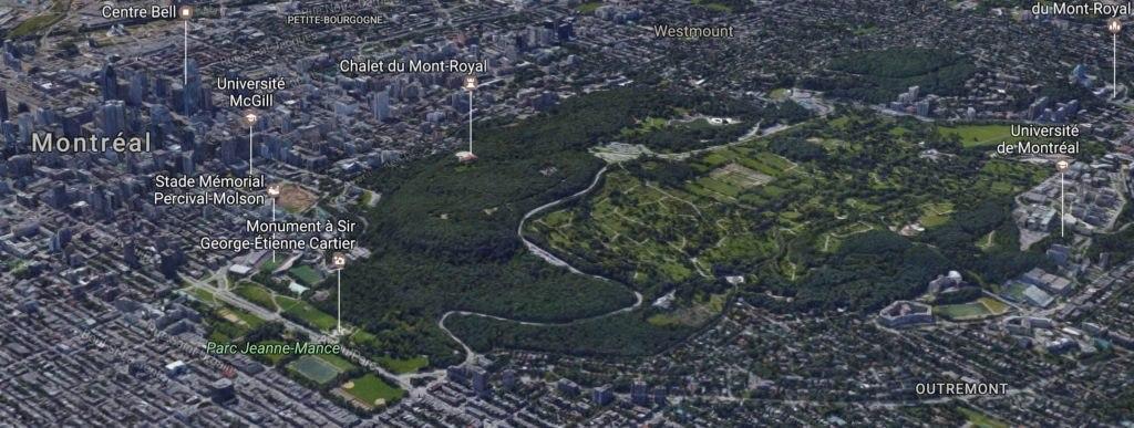 Carte du Mont Royal