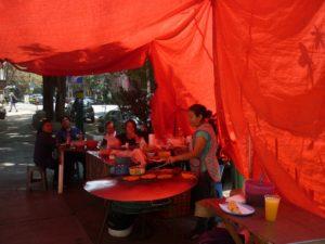 Stand tacos de rue - Mexico