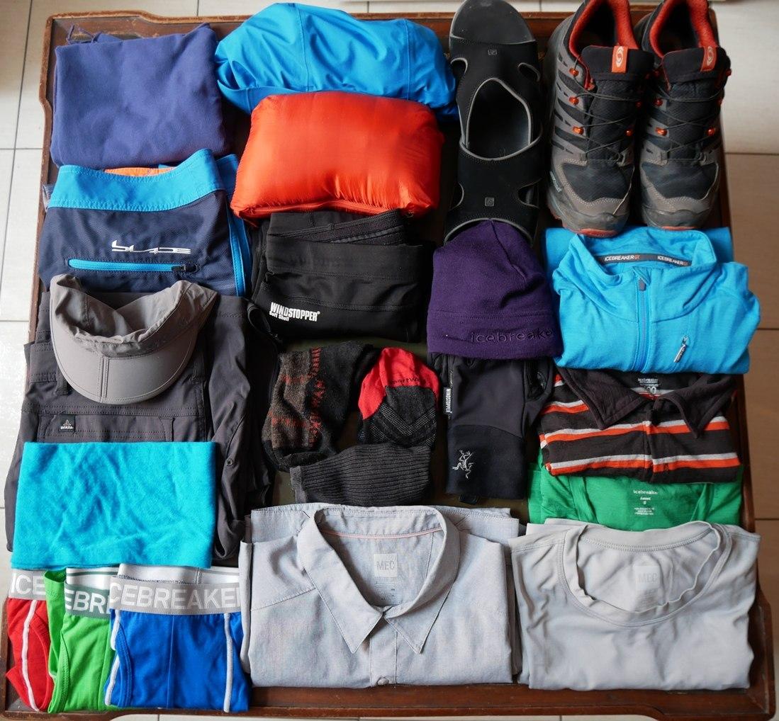 Équipement technique : Habits de Pierre pour 4 mois de voyage