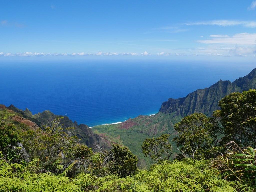 Vue sur la Napali Coast à Kauai
