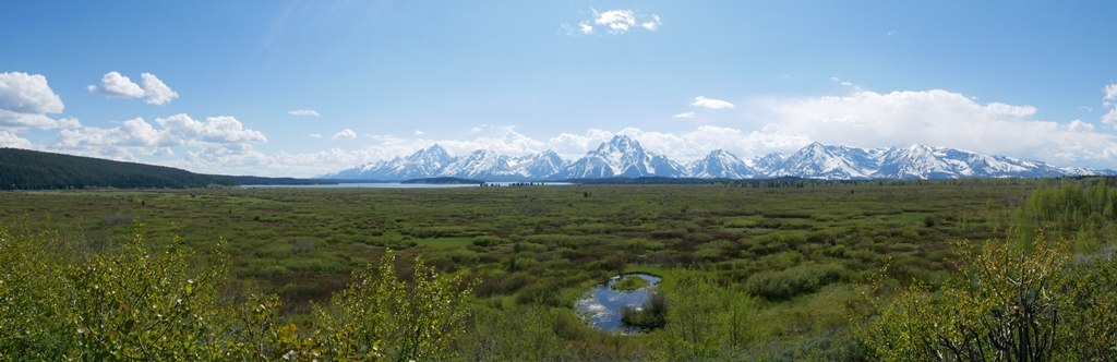 Un plaine de Grand Teton