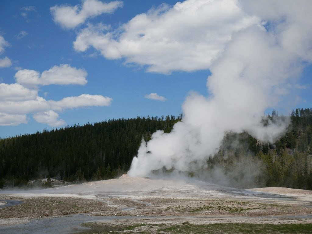 Upper geyser basin à Yellowstone