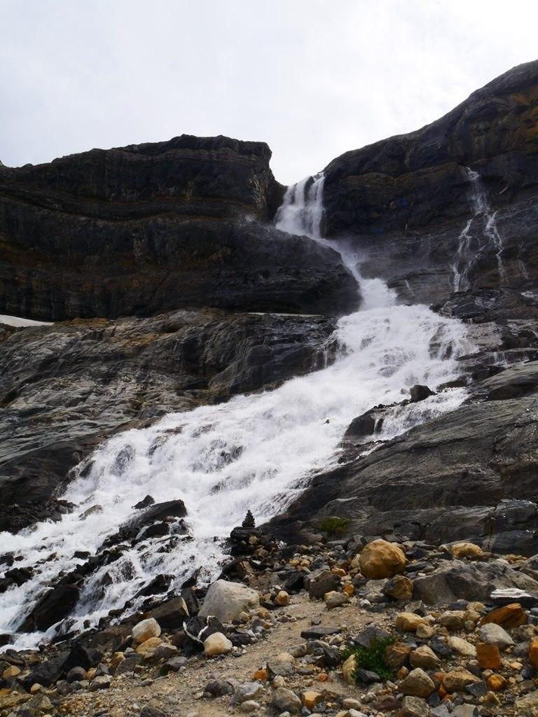 Bow glacier chutes d'eau à Banff