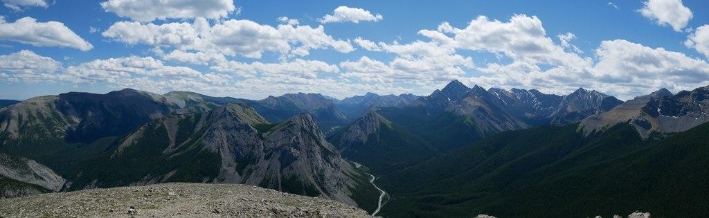 Vue du haut depuis Sulphur Skyline à Jasper