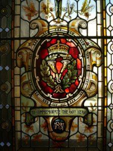 Vitraux jubilé reine Elisabeth - Victoria sur l'île de Vancouver