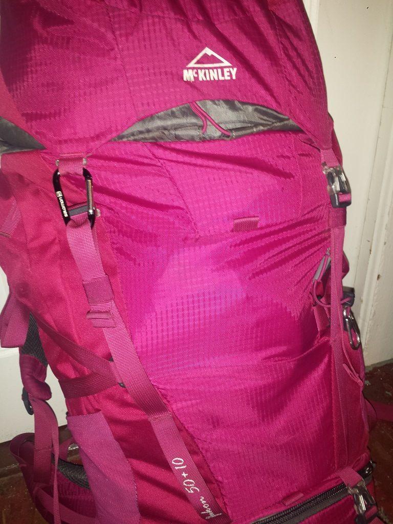 Retour sur notre équipement : Attache sac a dos McKinley cassée