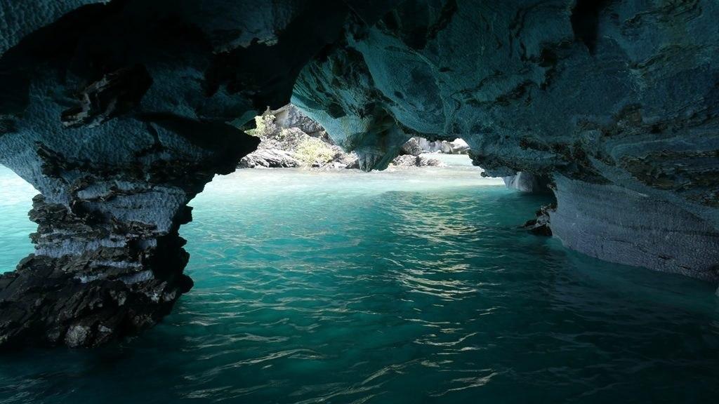 Caverne de marbre intérieur - Carretera Austral