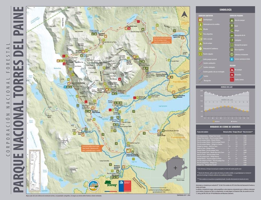 Carte sentier et du parc