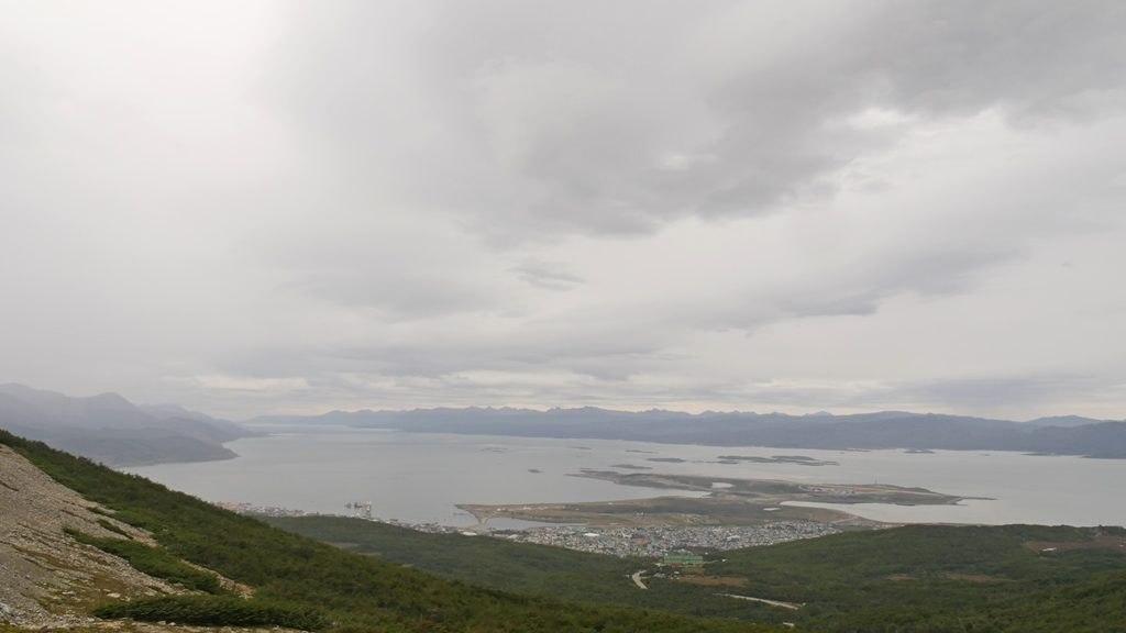 Vue sur la ville d'Ushuaïa