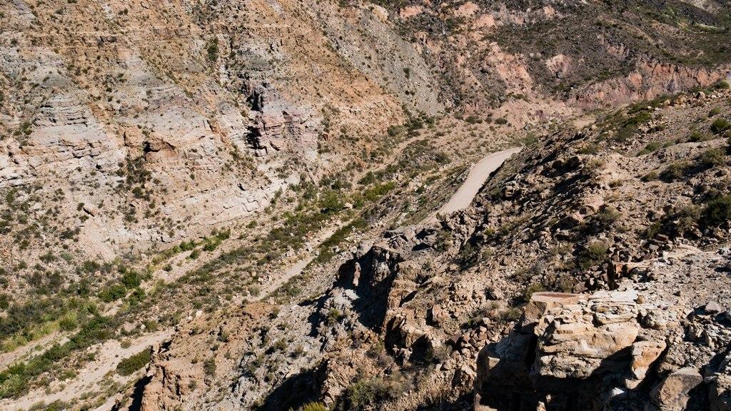 Canyon del Atuel et sa géologie dans la région de Mendoza