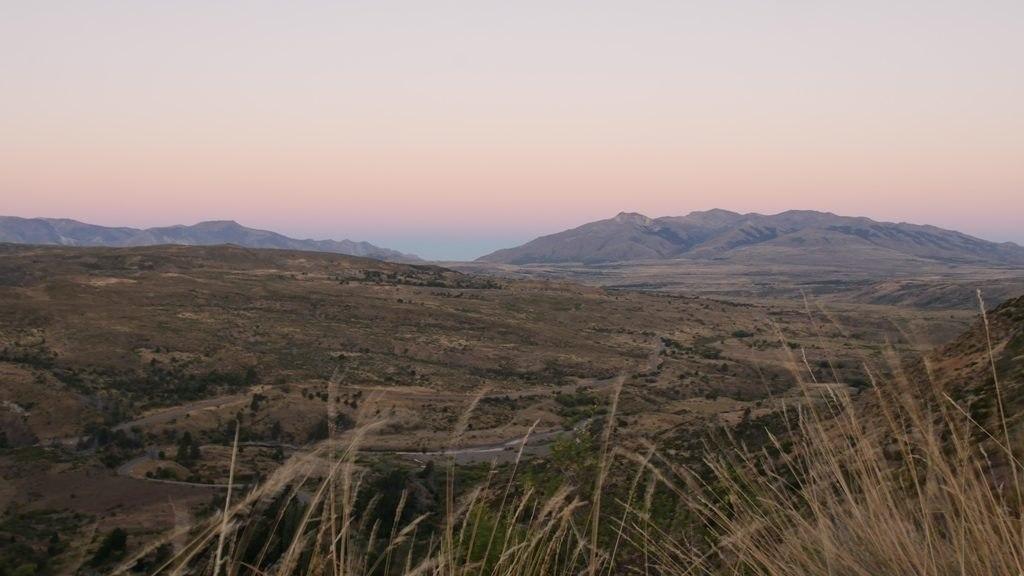 Coucher de soleil avant le parc Los Alerces - Journal de bord en Argentine