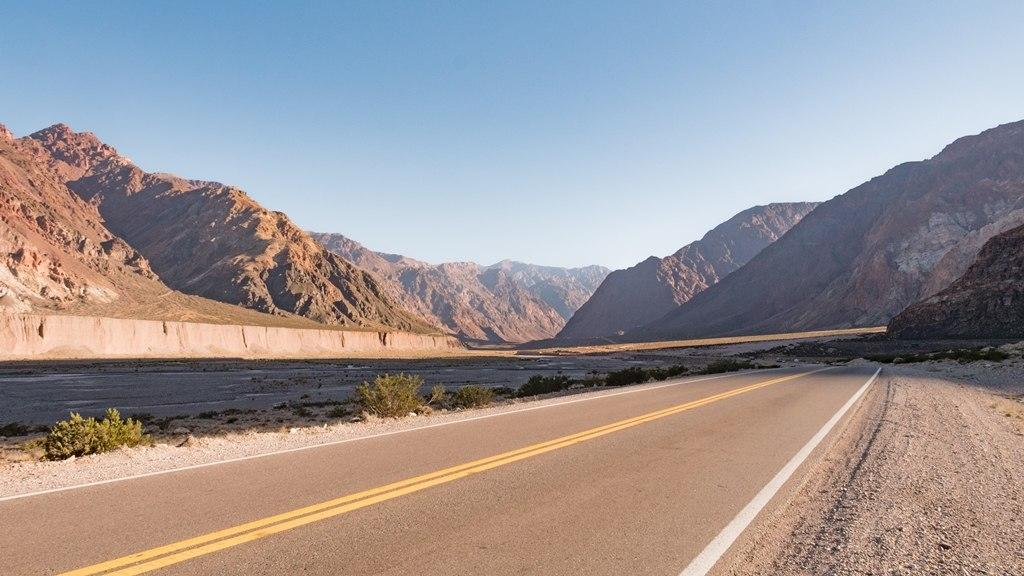 Sur la route de l'Aconcagua dans la région de Mendoza