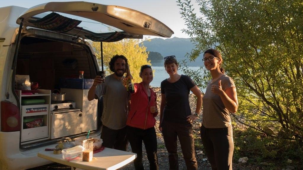 En van avec les géonautrices sur la ruta de los siete lagos
