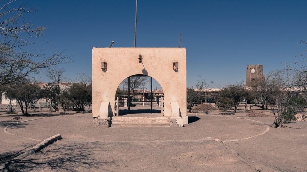 Le centre de la ville minière