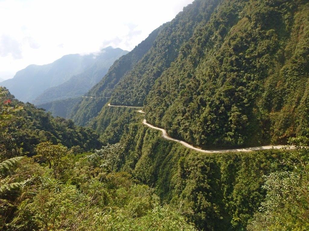 L'ancienne ruta de la muerte proche de La Paz