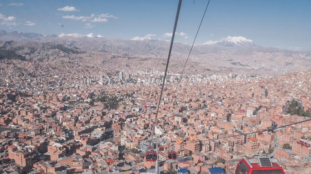 Vue téléphérique de La Paz