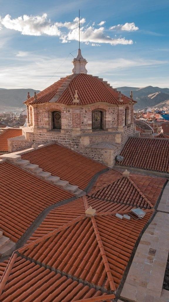 Vue du haut de la Cathédrale Potosi