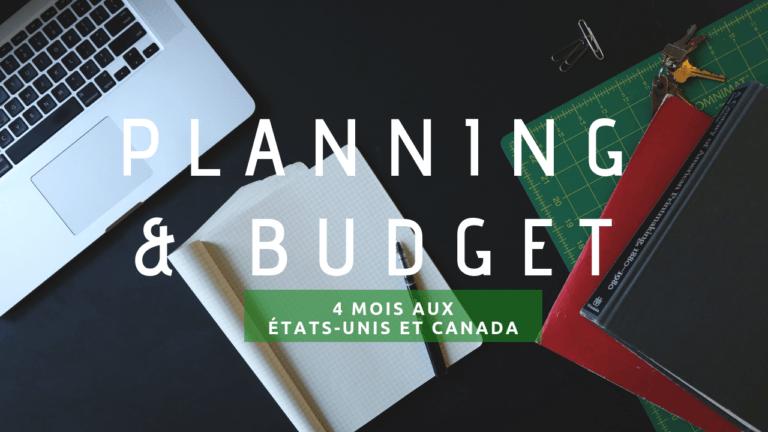 Planning et budget pour 4 mois aux USA et Canada