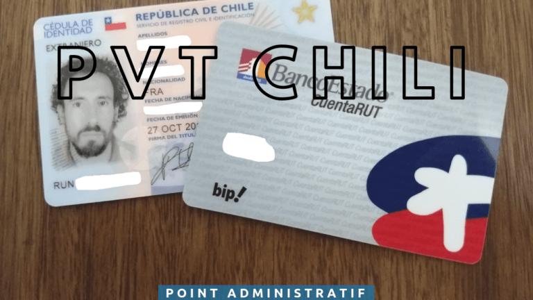 L'administratif en début de PVT Chili