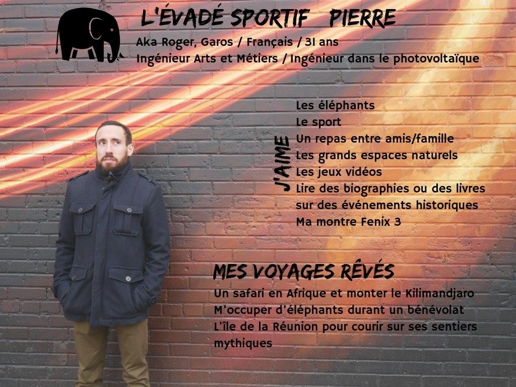 Pierre evades sportif