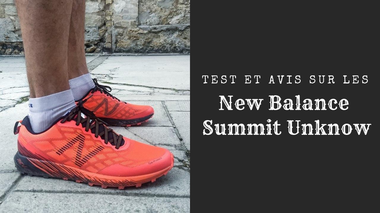 Test et avis sur les New Balance Summit Unknow