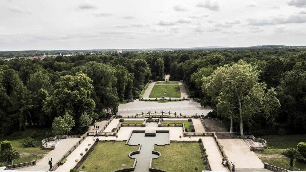 Vue sur les jardin Sanssouci