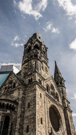 Vue du clocher Eglise du souvenir de Berlin