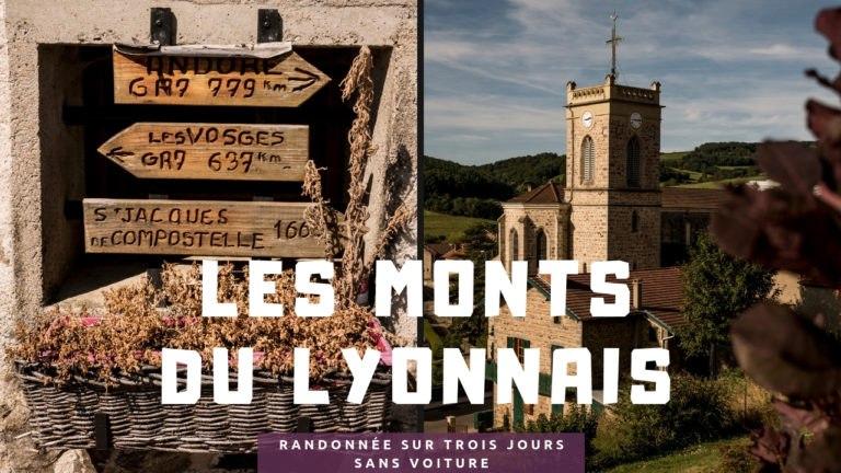Randonnée dans les Monts du Lyonnais sur 3 jours sans voiture