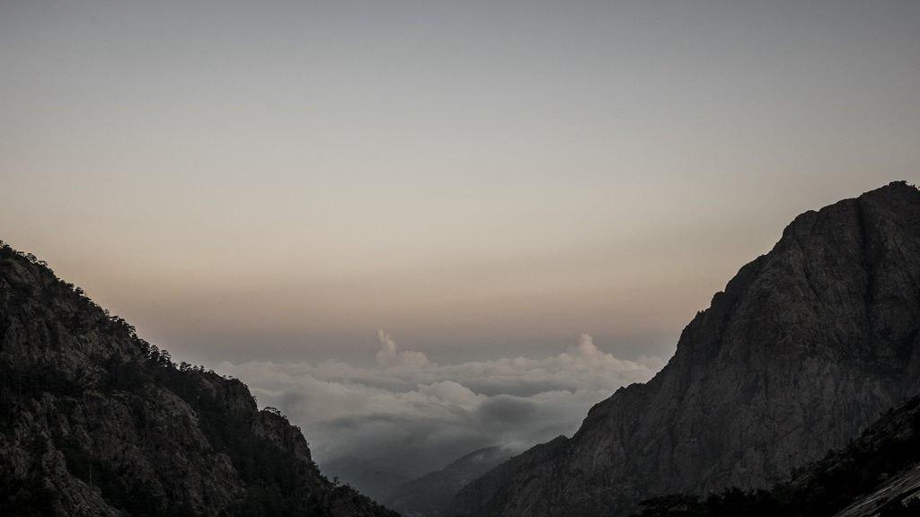 Refuge Carrozu coucher de soleil