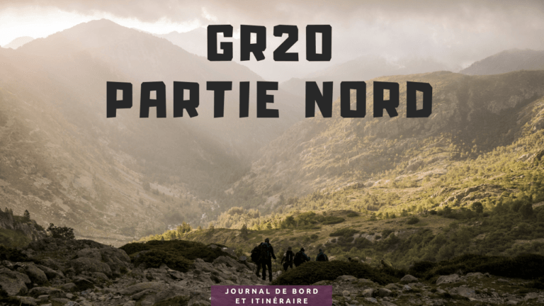 GR20 nord, journal de bord et itinéraire
